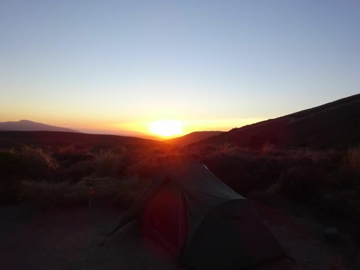 Couché du soleil au campement