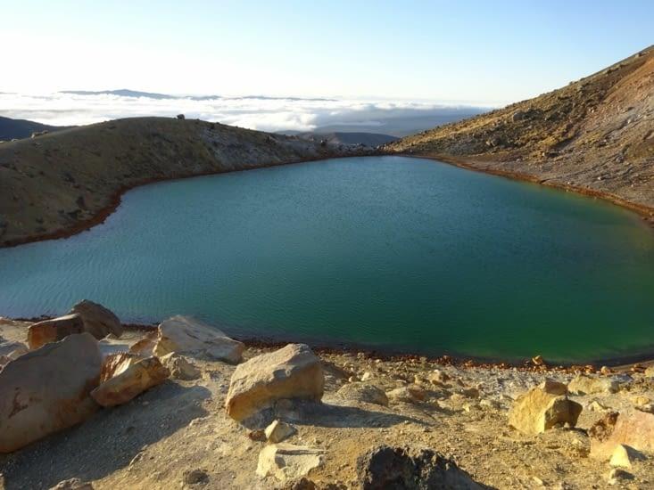 Le lac d'émeraude vue de plus près