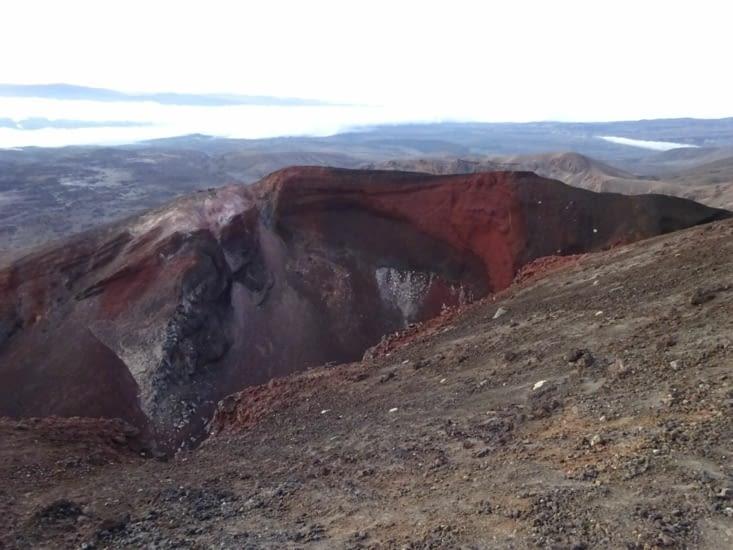 """Nous découvrons le """"red crater"""" qui a vraiment une belle couleur rouge"""