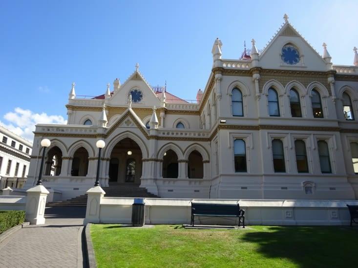 Le parlement, malheureusement fermé à cause des attentats de Chritchurch ...