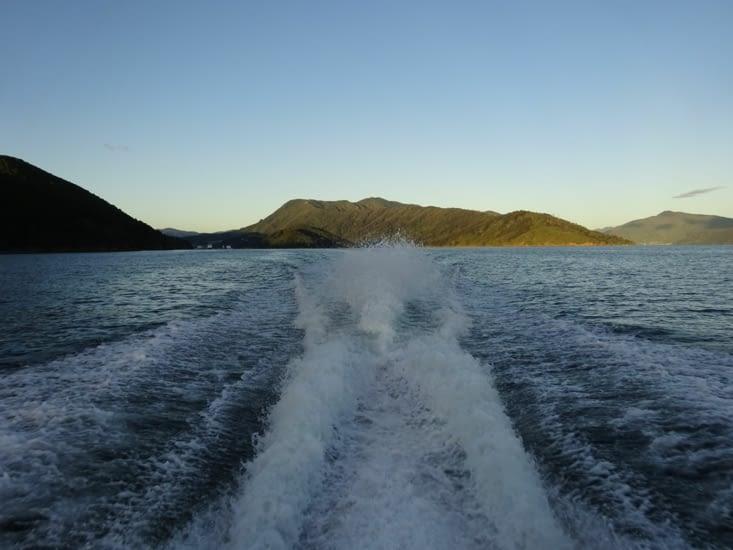 Départ de Picton avec le bateau taxi
