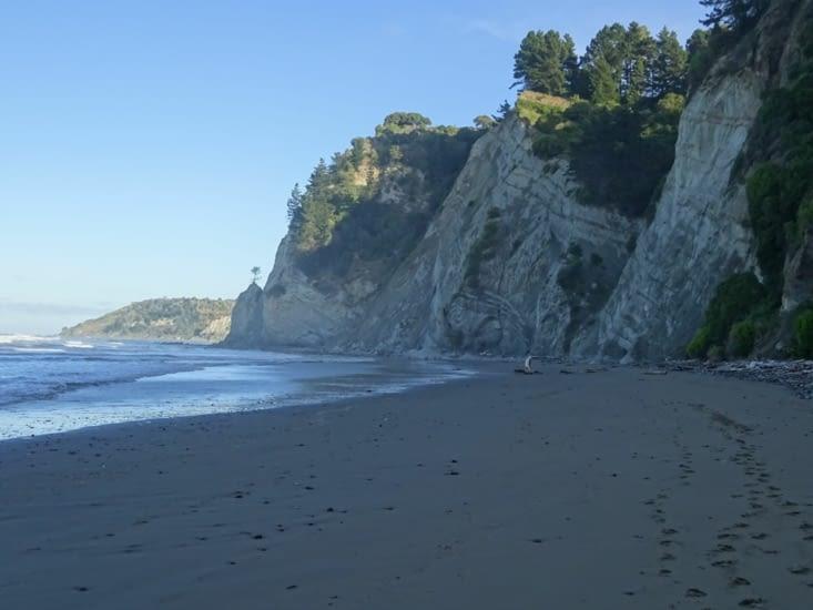 En route pour Christchurch, arrêt pas ces falaises...