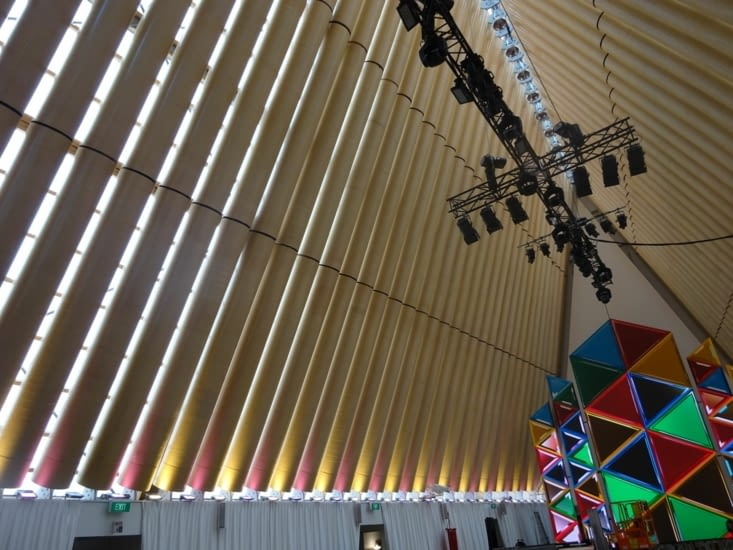 La structure de la nouvelle cathédrale