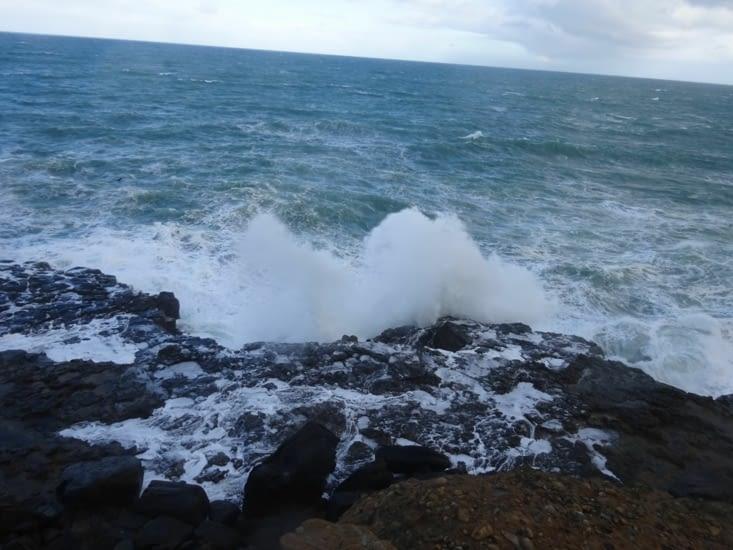 Les vagues sont impressionnantes