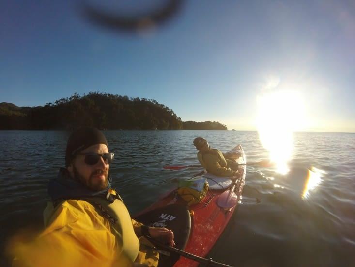 Heureux dans notre kayak !!