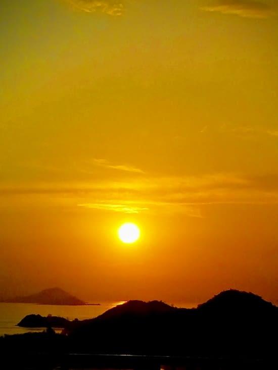 coucher de soleil magique