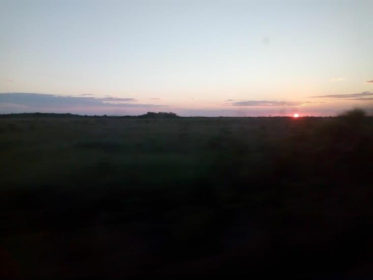 Coucher de soleil route pour Mahahual