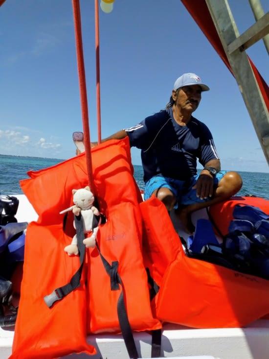 Première  sortie en mer Doudou Sapiens, sous la surveillance du Captain!