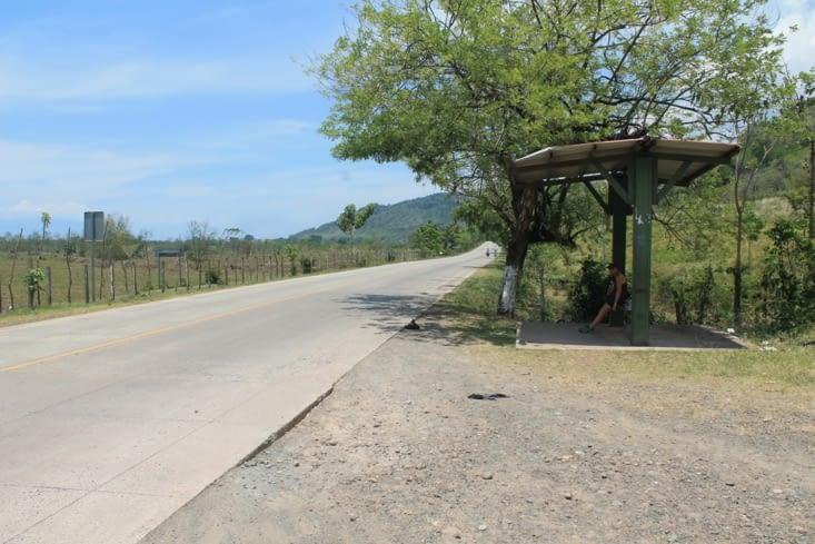 En attendant le minibus local