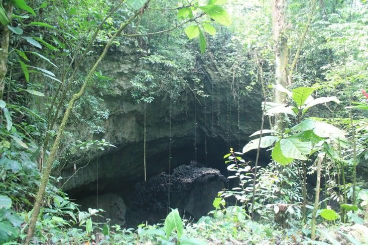 L entrée de la grotte