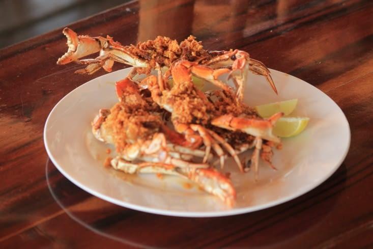 Crabe frit