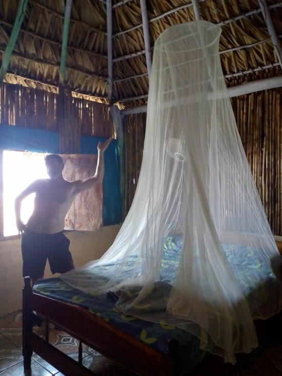 Par prudence Stefan nous accroché notre moustiquaire