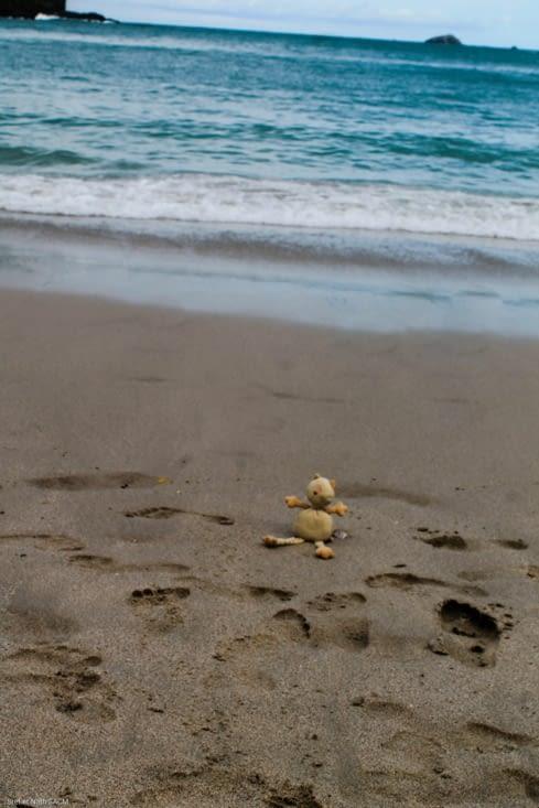 Après  plusieurs heures de randonnée  une bonne baignade sur ces belles plages