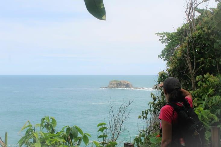 Vue sur le parc marin manuel Antonio