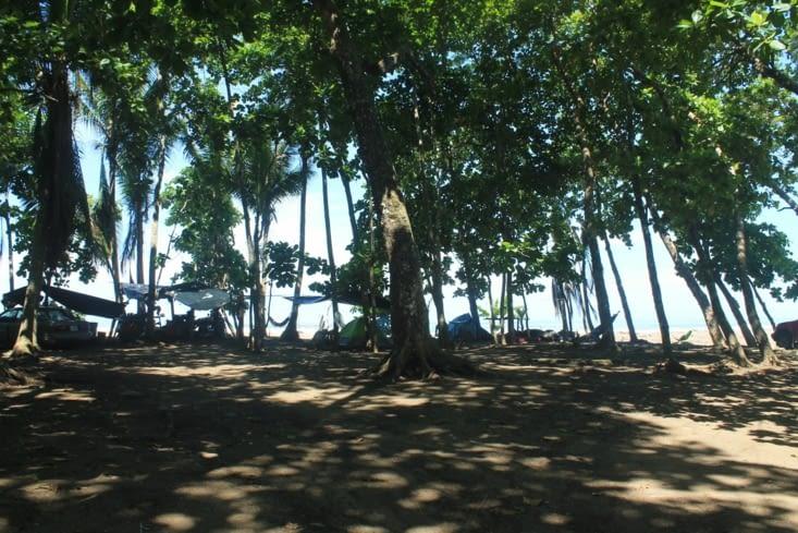 Camping sur la plage ici c'est cool