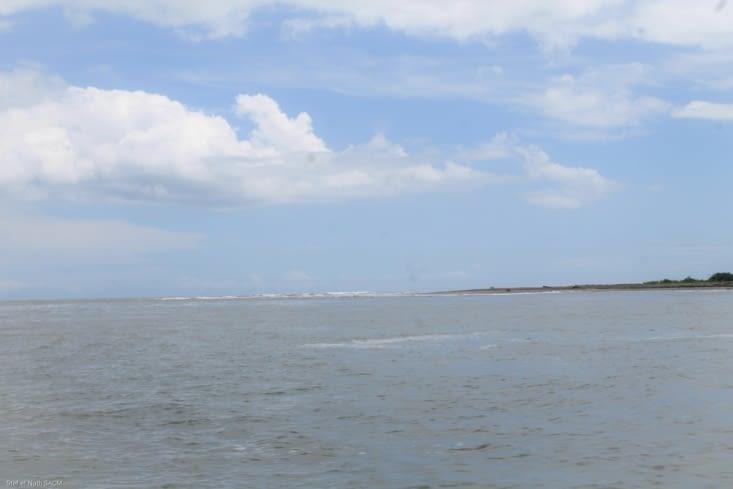 La fin du rio qui se jette dans l océan
