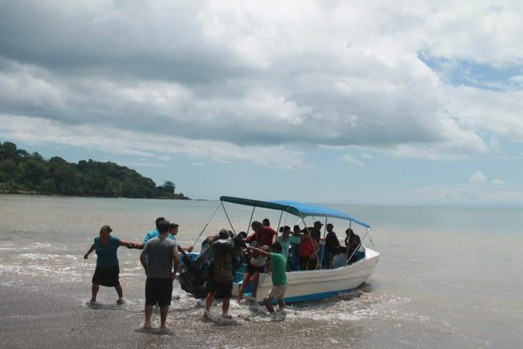 L'arrivée direct sur la plage