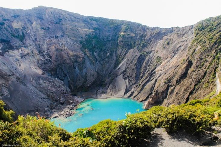 Le lac du volcan