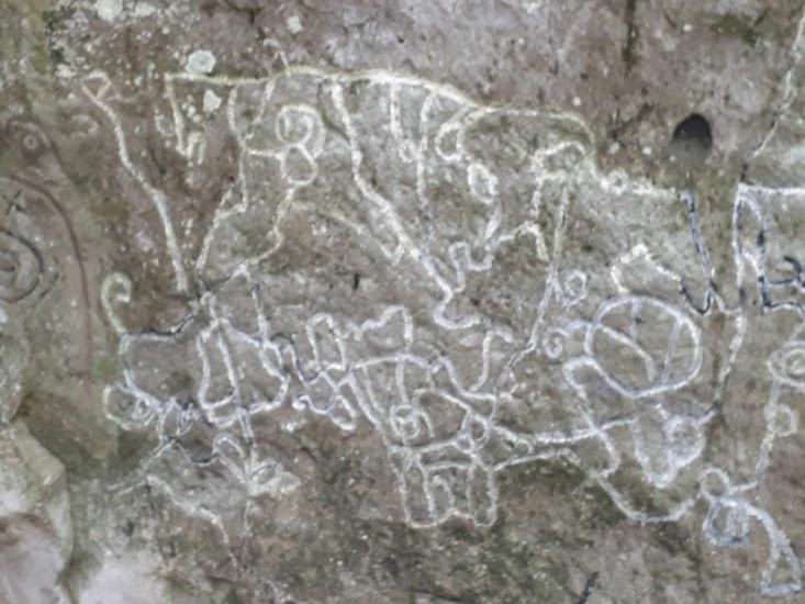 La pierre  peinte