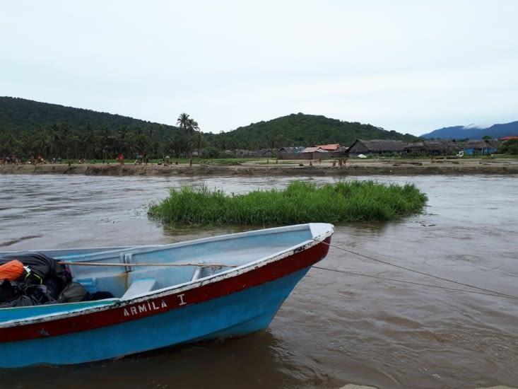 Il faut  remonté le rio malgré le fort courant contraire