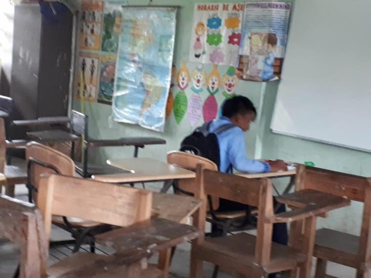 Classe en  intérieur