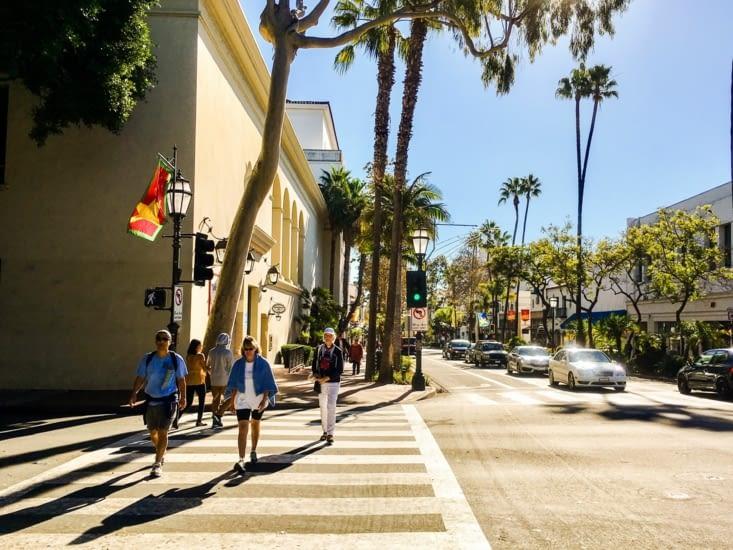 Les rues de Santa Barbara