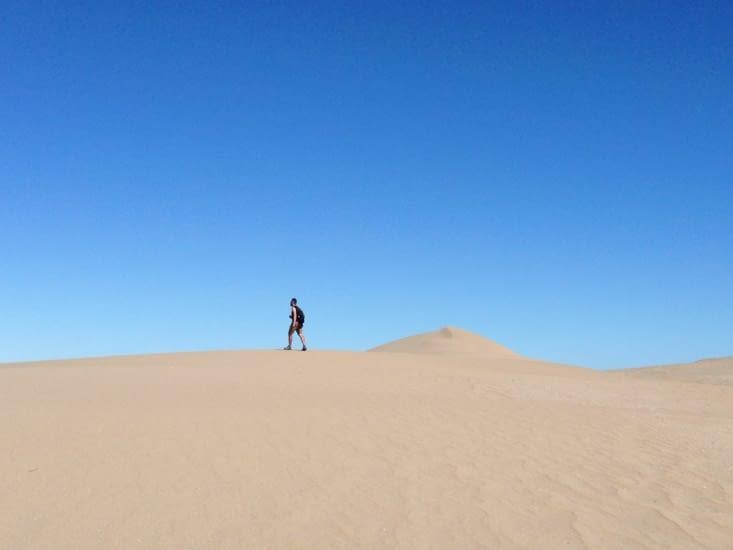 Au détour d'une balade, on trouve un mini désert ! Impressionant !