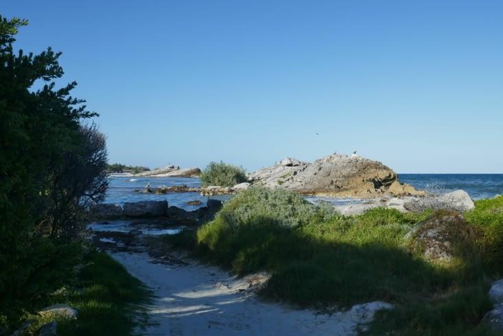 Enfin  du calme, une zone située au nord des plages privées.