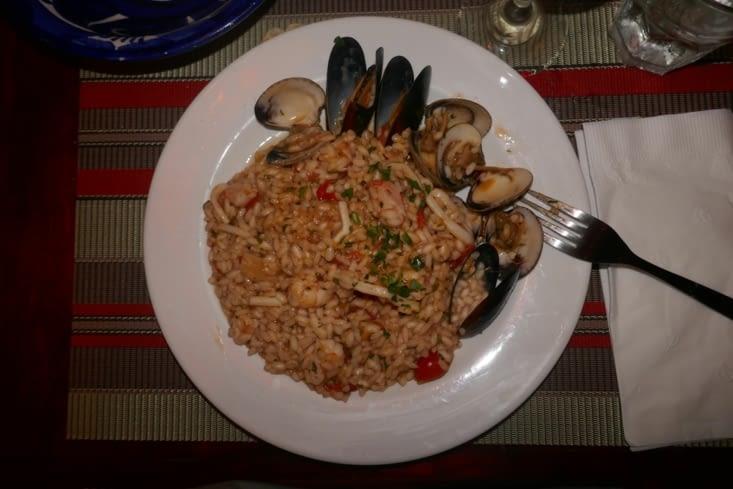 Risotto aux fruits de mer, spaguetti aux filets de sardine...génial
