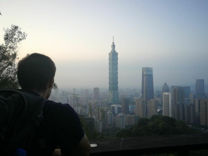 Vue sur la tour Taipei 101