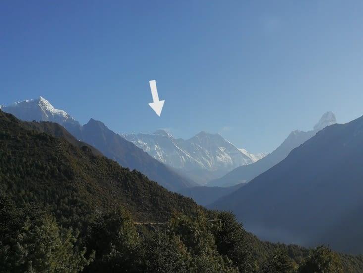 Vue sur le Mont Everest