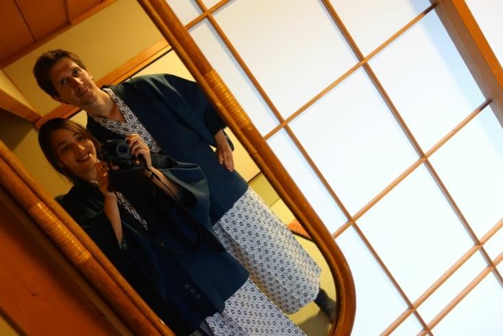L'habillage après le bain public (sentō)