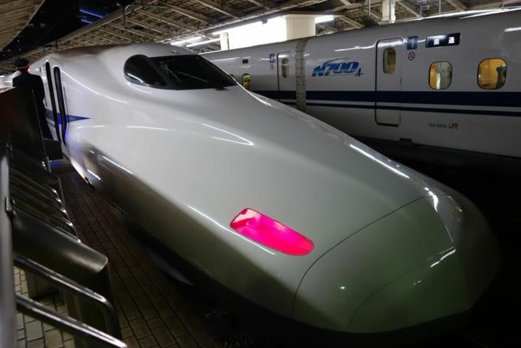 Arrivée en Shinkansen (TGV japonais)