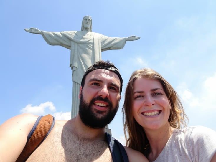 Le mythique Christ Redempteur sur la montagne du Corcovado