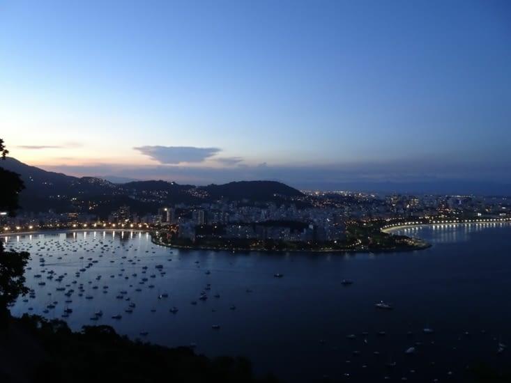 Rio by night, la vue du pain de sucre