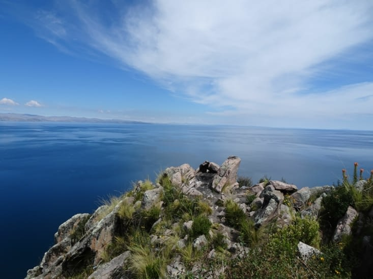 En haut du Cerro Calvario