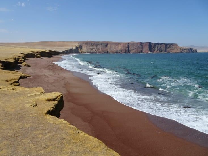 La plage rouge