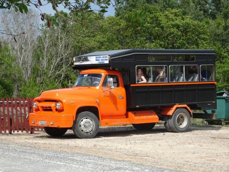 Les bus locaux improvisés