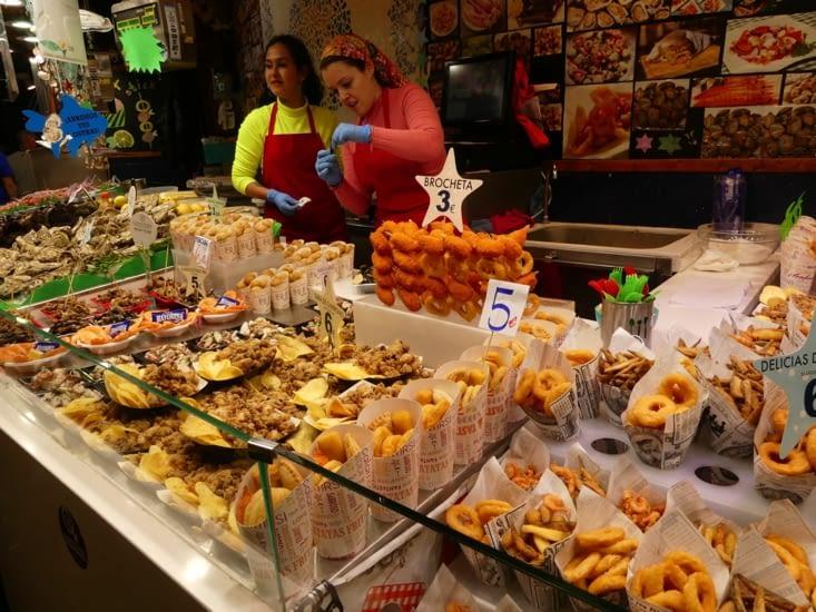 Le marché de la Boqueria où on ne se lasse pas de se balader...