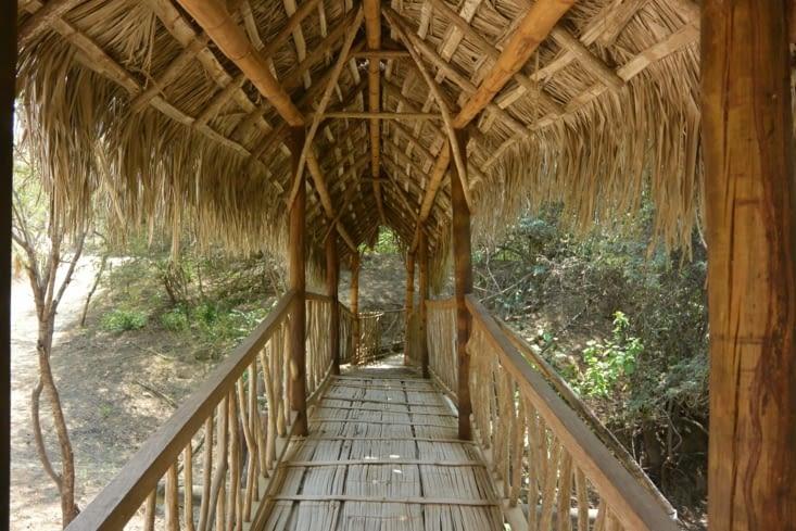 Entrée du sentier du village d'Agua Blanca