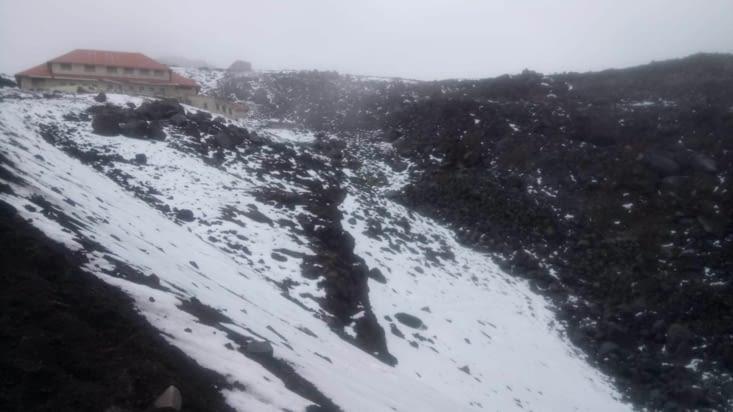 Presque sommet du volcan : refuge José Félix Ribas (4800 mètres d'altitude)