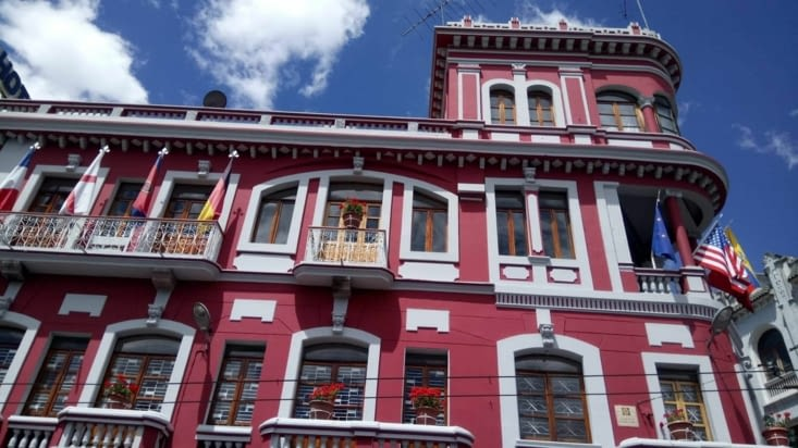 Vieille ville de Quito (colorée)