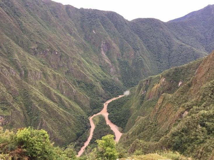 Rivière Aguas Caliente vu de là-haut