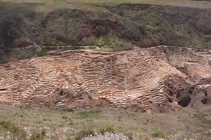 Les salinas de Maras vu d'en haut