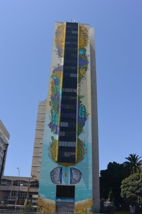 Les vainqueurs d'un concours de street art ont eu le droit de décorer cet immeuble