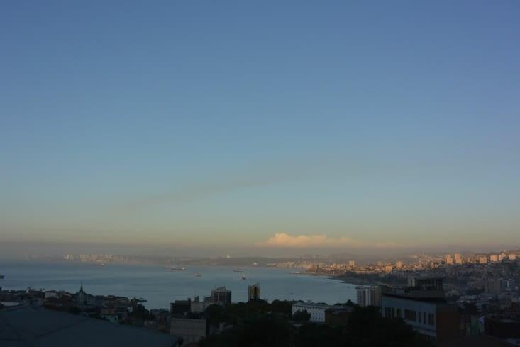Vue des hauteurs de Valparaiso