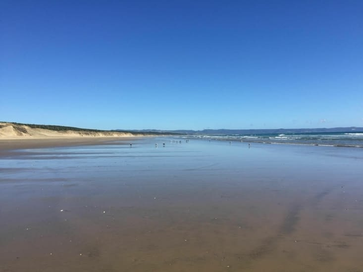 Ninety miles beach (magnifique plage de 90 km)