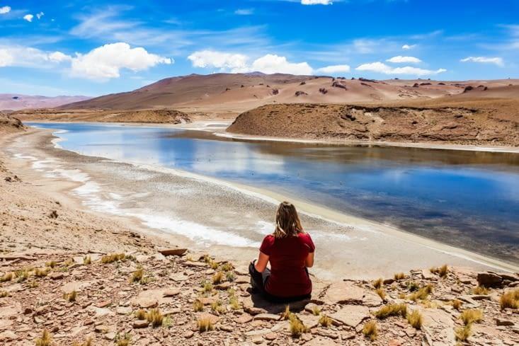 La route des salars - un canyon du Laguna Quisquiro