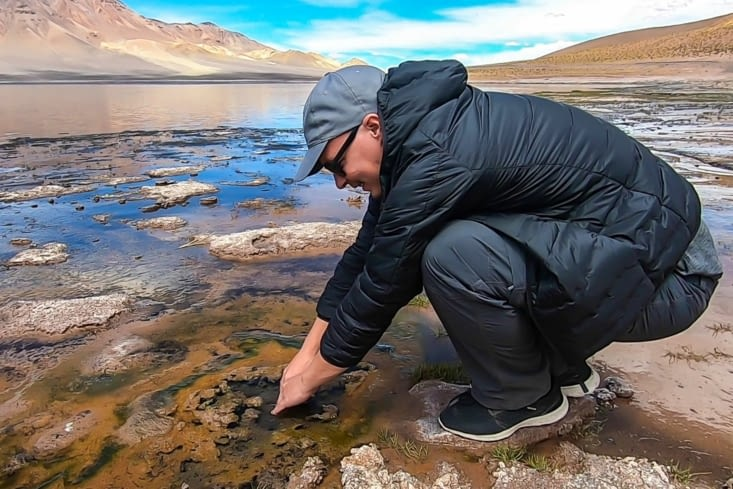 La route des salars - Laguna Negra du Salar Aguas Calientes, c'est chaud !