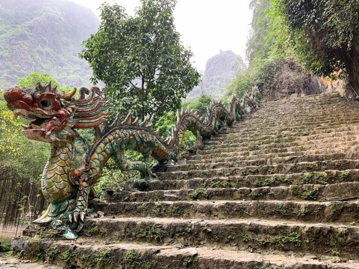 Début des escaliers de Mua cave ⛩